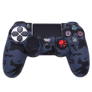 Camo Silicon Case Cover Sockproof Protective Rubber Skin Protector for Sony PS4 Wireless Controllers Play Station 4 Game Accessories