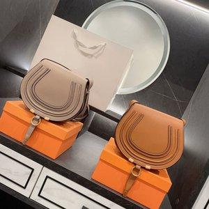 2021ss luxury Brand Messenger bags wholesale Designers Women High Quality Genuine Cowskin Leather Cloe Mini Marcie Shoulder Saddl