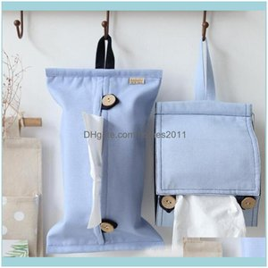 Tissue Table Decoration Aessories Kitchen, Dining Bar Gardentissue Boxes & Napkins Small Fresh Home Paper Roll Storage Box Car Hanging Pouch