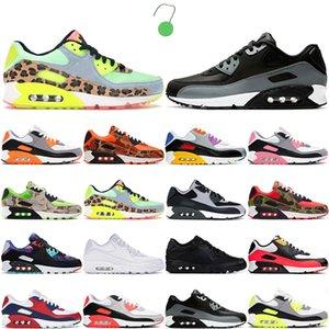 Moda nike air max 90 Erkek Kadın Spor ayakkabı 90s Temel Hiper Üzüm Dancefloor Yeşil Mavi Fury beyaz Koşu ayakkabıları Erkek Eğitmenler 36-45