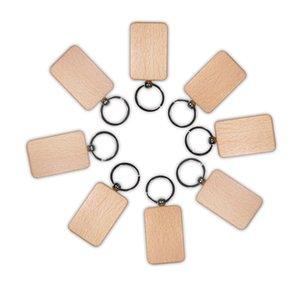 الفراغ الخشب الحلي جولة ساحة القلب مستطيل الشكل مفتاح قلادة شخصية خشبية المفاتيح المفاتيح أقراط اليدوية diy هدية kimter-d274l f