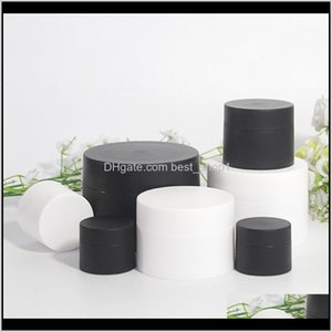 Storage Bottles Jars 3G 5G 10G 15G 30G 50G Matte Black White Jar Face Or Eye Containers Skin Care Products Packages1 Jwuyz 3Anlm