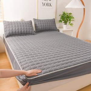 Sheets & Sets Thick Quilted Double Bed Sheet Mattress Cover Soft Breathable Elastic Fitted With Deep Pocket 150 Pad