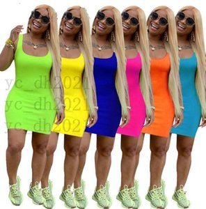 Designers Women Summer Mini Skirt Sleeveless One Piece Dress Party Nightclub Plus Size Womens Clothing