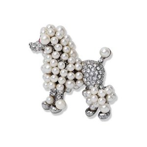Pins, Brooches Poodle Dog Simulated-pearl Brooch Sigma Gamma Rho Pearl Lapel Pin SGR Jewelry