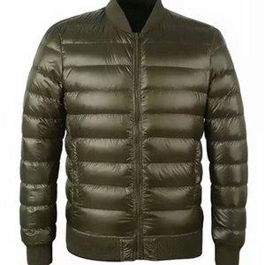 FTLZZZER inverno novo jaqueta 90% branco pato para baixo homens ultra luz fina jaquetas slim casaco quente básico outwear parkas casaco de parkas 201104