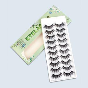 Wholesale DIY Natural Eyelash Extension 10 Pairs Handmade 3D Faux Mink False Eyelashes Reusable Fluffy Soft Wispy Volume Fake Lashes