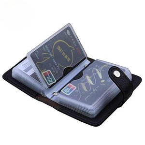 Card Holders Fashion PU Leather 24 Bits Id Holder Multifunction Business Bank Case Men Women Credit Passport Rfid Purse Wallet Bag