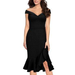 Backless Sexy Evening Party Dress Women Off Shoulder Summer Dress Female Elegant Slash Neck Ruffle Irregular Vestidos