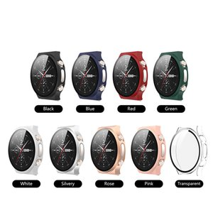 Tempered Glass +Watch Case for Huawei GT2 Pro ECG Plating Case Frame Protector Screen Protector Protective Case for GT2 Pro ECG
