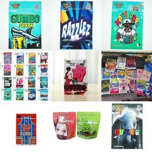 Edibles Mag Infeed 3.5G Runtz Упаковка Super Fly Gumbo Shark Ремонт Cookie Mylar Bags Sunty Razzlez Zip Lock Jokes Stand Up Jllflr