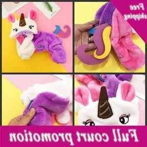 Unicornio Modeling Mascotas Ropa Rainbow Color Pet Promedor de Mascotas Otoño Perros Gatos Mantenga la ropa caliente Venta caliente 18 7xy L1