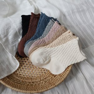 INS Children hollow out socks cute Toddler girls boys cotton summer Short Stockings mesh breathable hosiery for kids S1277
