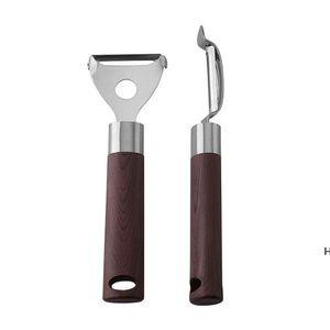 Affinamento in acciaio inox multi-funzione peeler frutta affettatrice di frutta carota grattugia utensile da cucina all'ingrosso DHF6211