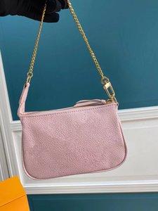 Último gradiente Gradiente Chain Bag Mini Pochette Acessoires Moeda Fresca Moeda Bolsa Mulheres retratadas Carteira Empreinteta embreagem de couro de grão macio