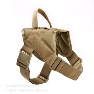 The dog clothes big combat training outdoor dog Tactical vest traction chest strap clothing
