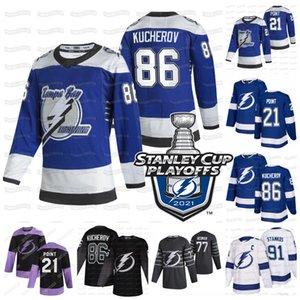 86 Nikita Kucherov Tampa Bay Lightning 2020 Stanley Cup Palyoffs Jersey Brayden Point Victor Hedman Stamkos McDonagh Johnson Gourde