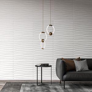 Art3D пластиковые 3D обои панель PVC волновой настенный дизайн белый 12 плиток 32 SF
