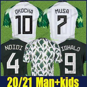 NDidi Osimhen Fútbol Jerseys Super Eagle Nigelia Equipo Nacional Uniformes 2021 2022 Maillot de Foot Okechukwu Mikel Iheanacho Musa MUSA Ighalo Okocha Jersey de fútbol 21/22