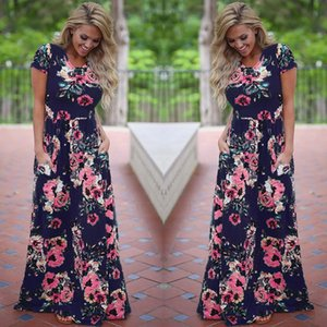 Vintage Floral Print Maxi Dresses For Women Summer 2021 White Boho Beach Evening Party Long Dress Plus Size Women's Clothing Casual