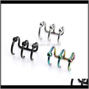 Clipon Screw Back 1Pair Stainless Steel Without Piercing Punk Rock Ear Cuff Wrap For Women Men Clip On Earrings Cartilage F3716 Pjxe9 Frhpl