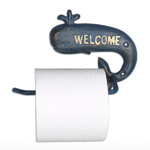 Toilet Paper Holders Whale Holder Free Standing Cast Iron Countertop Or Floor Product Roll Dispenser