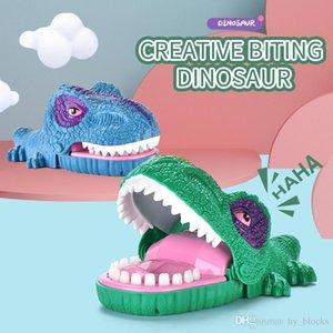 Забавный укус Палец Gags Игрушка Динозавр рот кусание пальцев игрушки интерактивная семейная вечеринка новинка для детей животных подарок 01