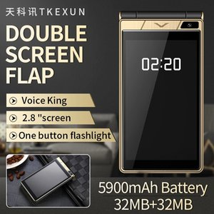 """Free case Unlocked Flip Cell phone Luxury Big Keyboard 2.8"""" Touch Screen Long Standby Camera MP3 Redcording Radio BT SOS Bright Display Dual Sim Card Mobile Cellphones"""