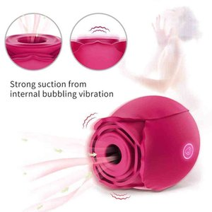 Sucking Vibrator for Women Clit Nipple Suction Stimulate Orgasm Couple Rechargeable Massager Adult Rose Sex Toys & Games X0401