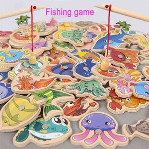 Preschool Wooden Montessori Toys Magnetic Fishing Game Baby Puzzle Teaching Aids Early Educational Toys For Children Girls Gifts 210901