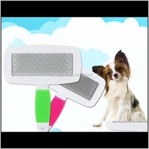 Other Supplies Home Garden Drop Delivery 2021 Handle Shedding Cat Hair Fur Grooming Trimmer Comb Slicker Brush Pet Products Dog Accessories Z