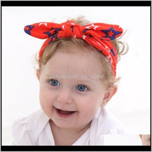 Headband Independence Day Bow Knot Hairband American Flag Rabbit Ears Headwear Twist Turban For Kids Boys Girls 5Zaes Hair Accessories 7Wlwq