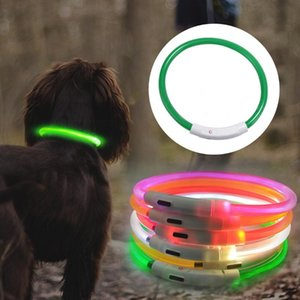 Dog Collars & Leashes Led Collar Anti-Lost Avoid Car Accident For Dogs Puppies USB Charging Leads Supplies Pet