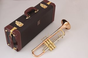 gold keys LT180S-72 Bb flat Bach Trumpet Phosphorus & Copper Professional Trompette Bell Top Musical Instruments Brass Trompeta