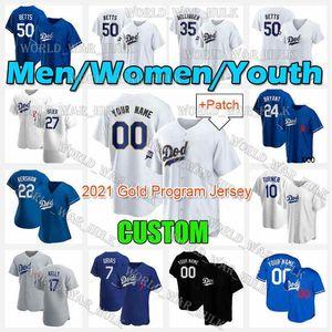 Лос-Анджелес Бейсбол Джетки Cody Bellinger Corey Searger Mookie Betts Dodgers Max Muncy Walker Buehler Justin Turner Custom Mounte Mounte