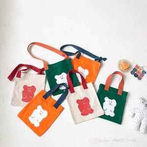 Cartoon children handbag fashionable style boys girls animal printed canvas bags cute kids casual zero wallet one shoulder purse F736