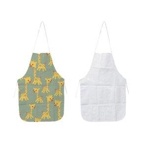 Drucken Weißes Tuch Uniform Schal Kitchen Schürzen Sublimation Blanks Schürze DIY Ölfest Antifouling Thermal Transfer 70x48 cm