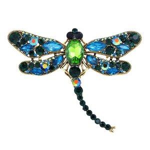 New Diamond Dragonfly Брошь Гальванированный Животное Брошь Сплава Стрекоза Брошь