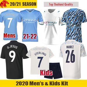 21 22 Manchester Soccer Jerseys FODEN City 2021 2022 DE BRUYNE G.JESUS KUN AGUERO STERLING GUNDOGAN Football Shirt BERNARDO MAHREZ Man Jersey Kids kit