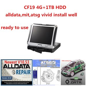 2020 Hot Newst Alldata MIT ATSG Vivid Hard Drive 1TB HDD Auto Riparazione automatica installata in Toughbook CF19 4 GB Touch Screen Computer diagnostico Leggi al lavoro