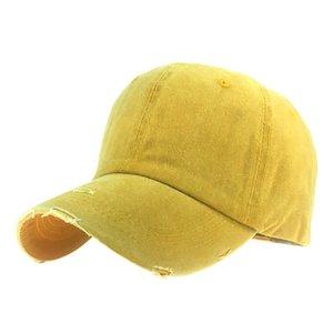 2020 Women caps New Design Solid Color Ponytail Baseball Cap Cotton Sport Caps Adjustable Snapback Hip Hop Hat