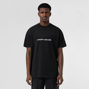 2021 недвижимость Новый Мужской дизайнерская футболка Di Lusso Футболка Da Donna Футболка Londra Inghilterra Inghilterra Lettera Classic Parta Повседневная Cotone Tshirt Tee Tee Top