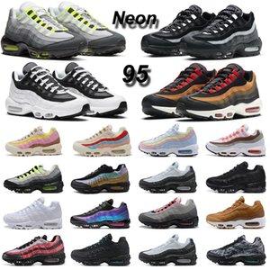 nike air max 95 95s OG نيون الرجال احذية الجري ما الثلاثي الأسود الأبيض الليزر الفوشيه الرجال النساء المدرب الرياضة في الهواء الطلق حذاء رياضة 36-45