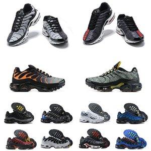 Erkek TN Artı Koşu Ayakkabıları Parçacık Gri Se Ultra Siyah Beyaz Supernova Metalik Kalaylı Degrade Hiper Sneakers TNS Volkan Üniversitesi Kırmızı Spiral Adaçayı Eğitmenler