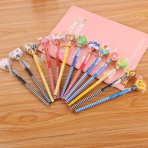 Sketch Write Pen Pencil Wooden Lead Pencils HB With Eraser Cartoon Children Drawing School Writing Stationery Supplies 0376