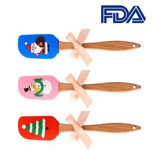 Farbe Kreative Nette Cartoon Santa Kuchen Teigschaber Kuchencreme Butter Teig Mix Scraper Pinsel Backwerkzeug Kann wiederverwendet werden
