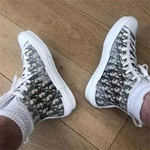 19SS Dior Designers Oblique B23 KAWS Hommes Chaussures Bajo High Top Sneakers Slides Kanye West Fashion Mujeres Hombres Zapatos Casuales