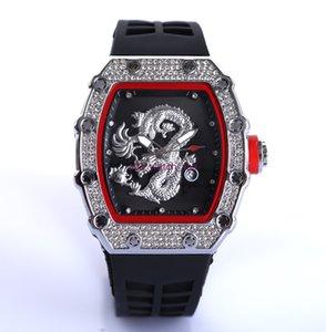 2021 New Skull Sports Watch Set Auger Retro Series Lazer Moda Quartzo Assista Homens e Mulheres6