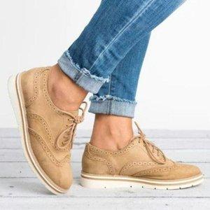 Женские туфли кожаные замшевые кружевы осени женские кроссовки дышащие износостойкие ретро однократное платье