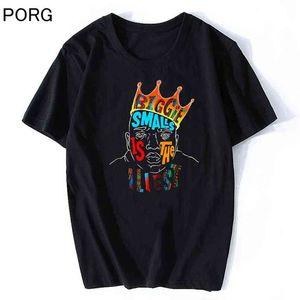 BIGGIE MALLS WESTORY BIG футболка Мужчины высококачественные эстетические хлопчатобумажные крутые старинные футболки Harajuku Streetwear Hip Hop Thirts 210707